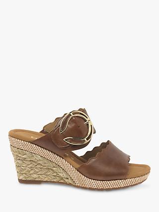5d46530df8f Gabor Kent Wide Fit Wedge Heel Sandals