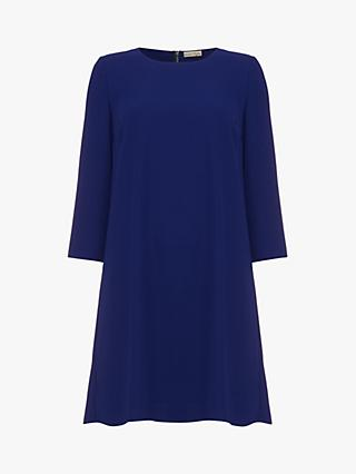 Phase Eight Pia Layered Pleat Dress, Cobalt