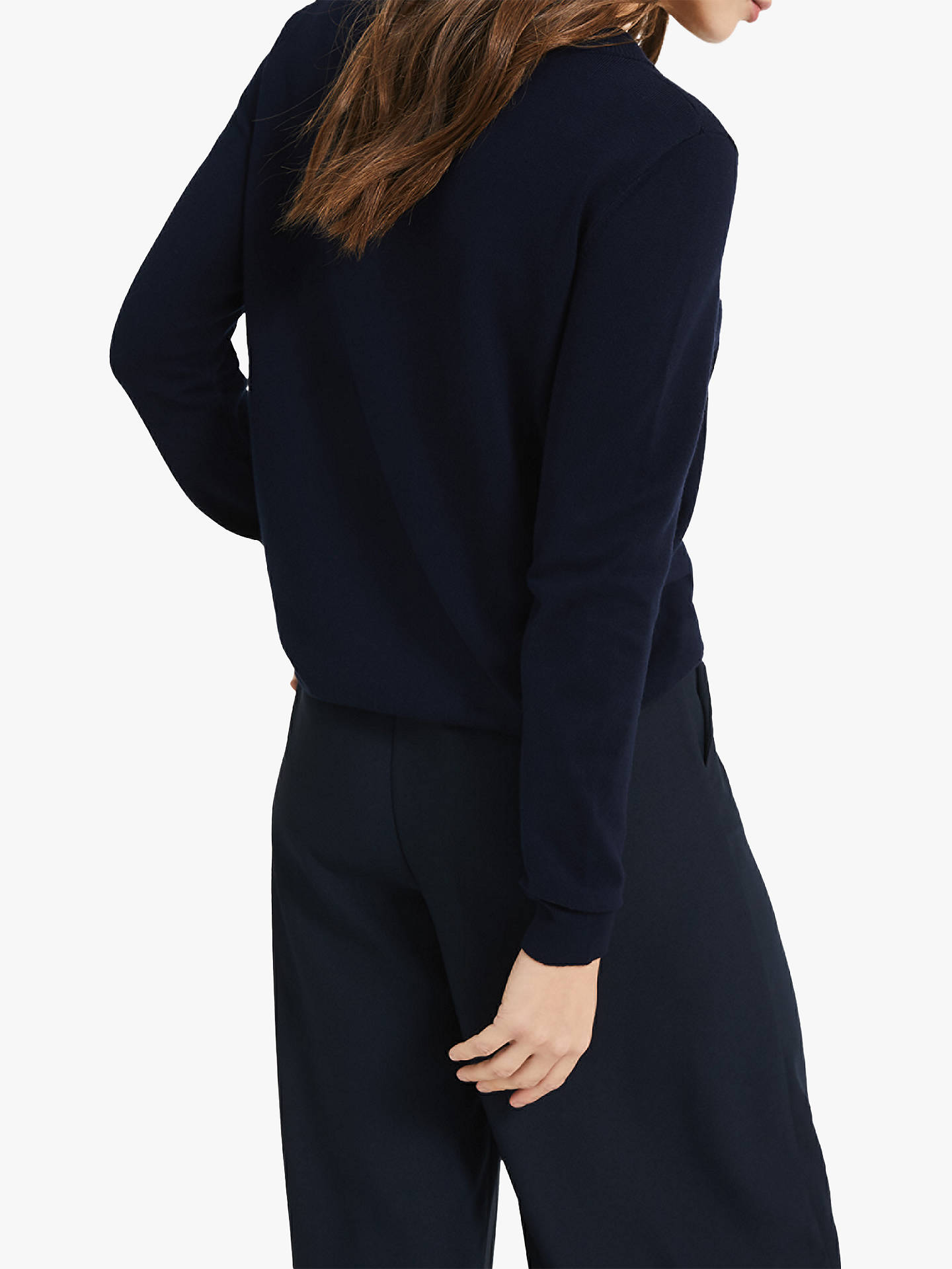 BuyPhase Eight Soleste Sparkle Jumper, Navy, 18 Online at johnlewis.com