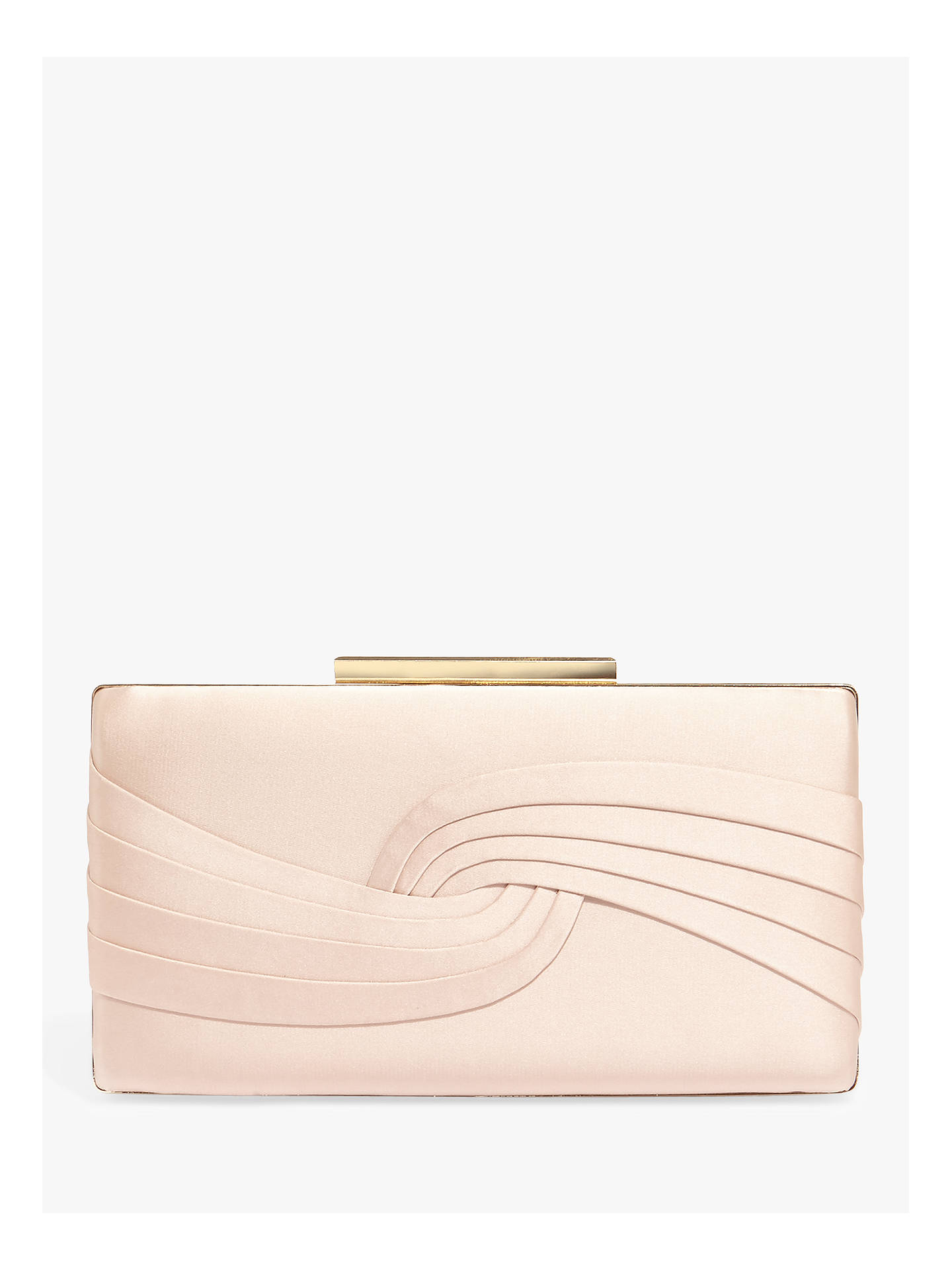 a9b74f2411f2 Buy Phase Eight Rosie Satin Clutch Bag, Cameo, One Size Online at johnlewis.