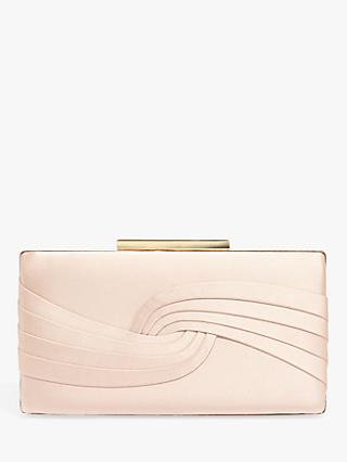 Phase Eight Rosie Satin Clutch Bag, Cameo