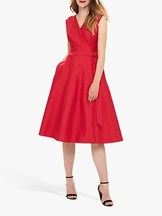Phase Eight Estelle Fit & Flare Dress, Raspberry