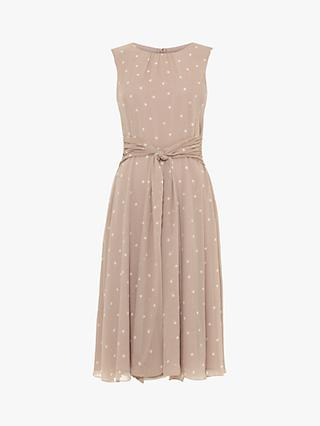 Phase Eight Fernanda Spot Dress, Latte/Ivory