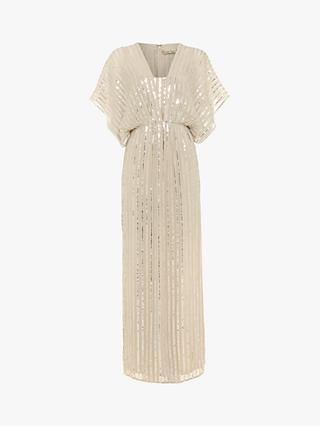 Phase Eight Collection 8 Mariana Sequin Maxi Dress, Almond/Silver