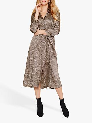 Damsel in a Dress Lexia Animal Print Shirt Dress, Neutral