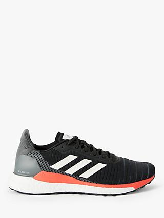 adidas Solar Glide 19 Men's Running Shoes, Core Black/FTWR White/Solar Orange