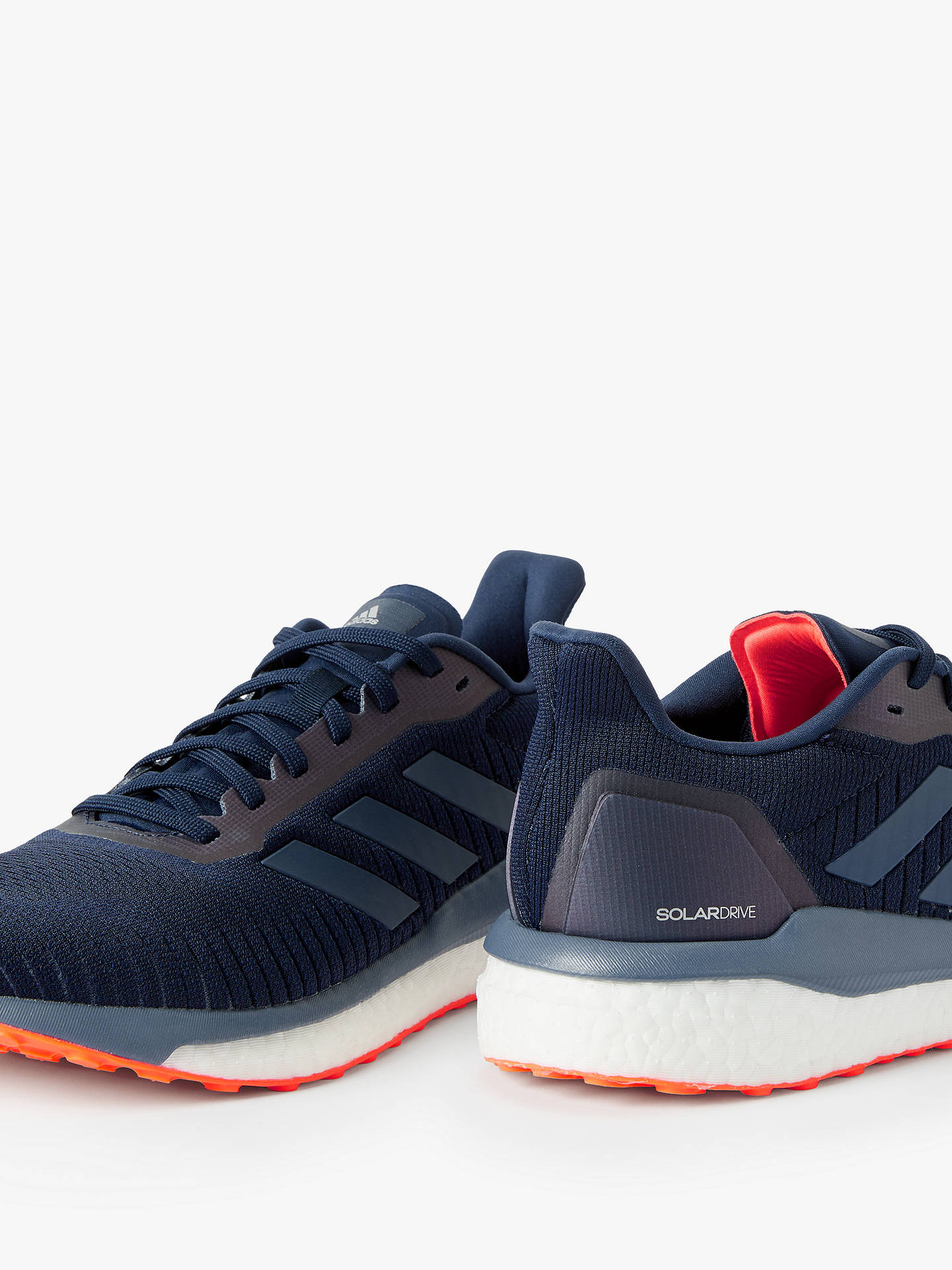 Buy adidas Solar Drive 19 Men's Running Shoes, Collegiate Navy/Tech Ink/Solar Orange, 9 Online at johnlewis.com