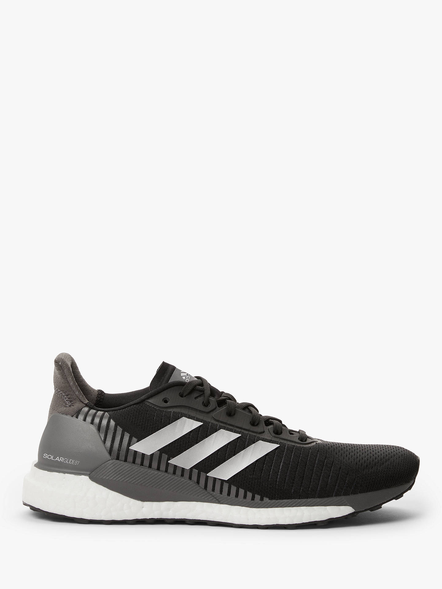 promo code 07918 083a0 adidas Solar Glide ST 19 Men's Running Shoes, Core Black/Silver Met./Grey  Five