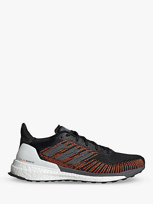Buy adidas Solar Boost 19 ST Men's Running Shoes, Core Black/Grey Five/Solar Orange, 7 Online at johnlewis.com