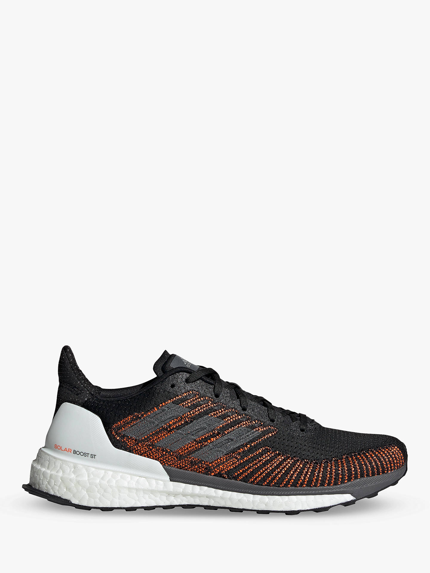 adidas Solar Boost 19 ST Men's Running Shoes, Core Black/Grey Five/Solar  Orange