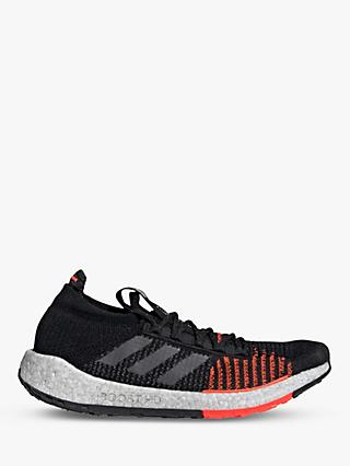 adidas PulseBOOST HD Men's Running Shoes, Core Black/Grey Five/Solar Red