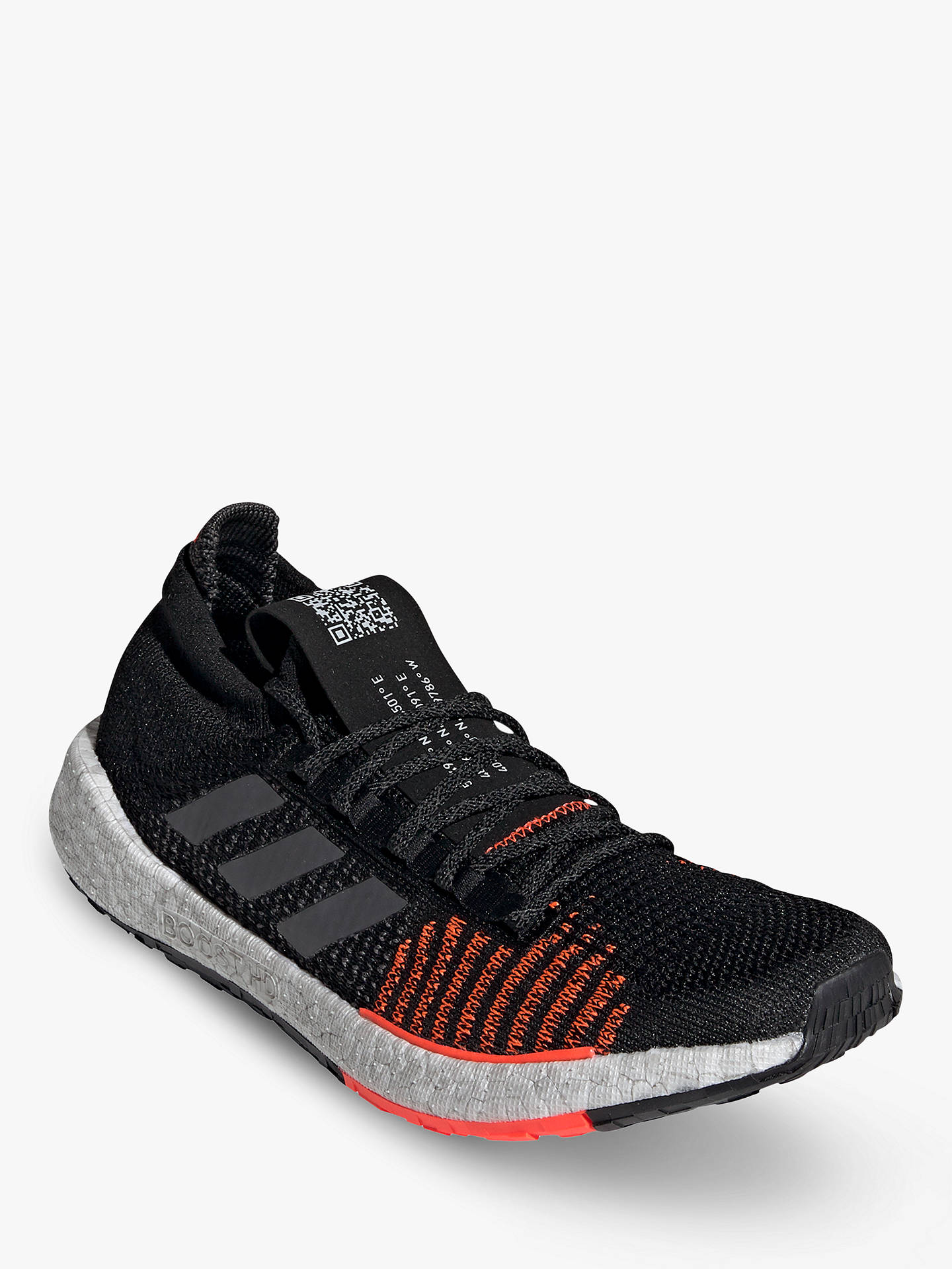Buy adidas PulseBOOST HD Men's Running Shoes, Core Black/Grey Five/Solar Red, 10 Online at johnlewis.com
