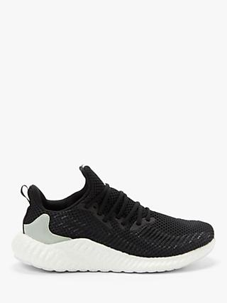 adidas Alphaboost Parley Men's Running Shoes, Core Black/Linen Green/FTWR White