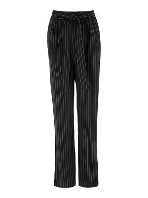 4be65ec9d Buy Gestuz Nala Stripe Straight Fit Trousers, Black, 8 Online at  johnlewis.com