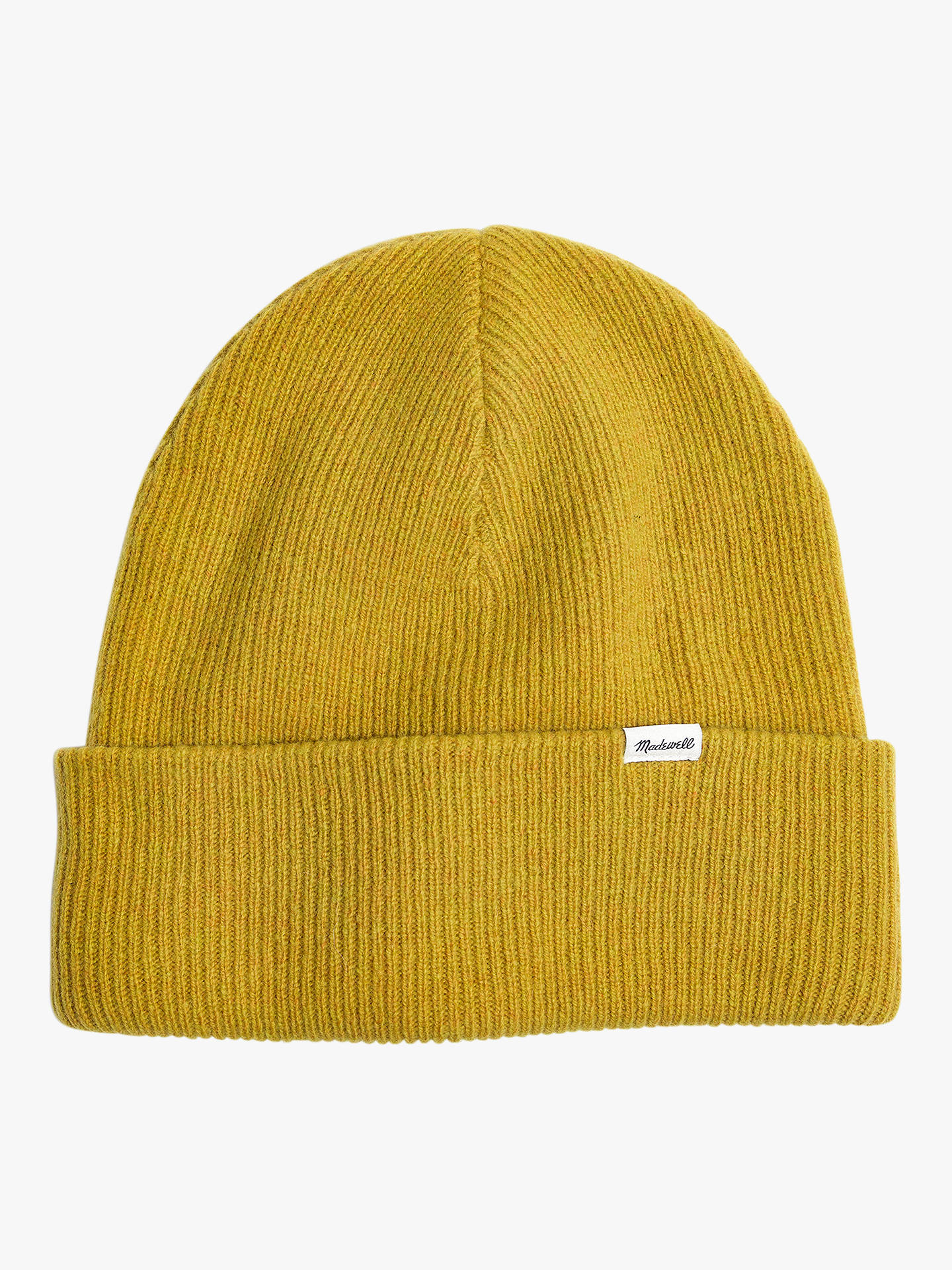 d0424a6ca77e75 Buy Madewell Cuffed Cosy Merino Wool Beanie Hat, Vintage Chartreuse, One  Size Online at