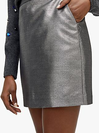 Warehouse Metallic Woven Skirt, Metallic