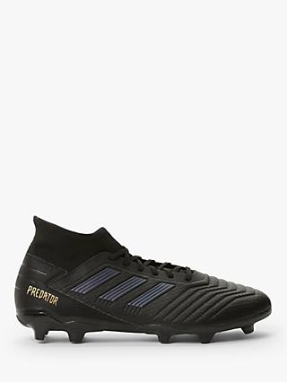 adidas Preadator 19.3 Firm Ground Football Boots, Core Black/Gold Met.