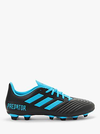 adidas Predator 19.4 Flexible Ground Men's Football Boots, Core Black/Bright Cyan/Solar Yellow
