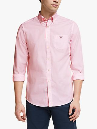 GANT Broadcloth Banker Stripe Shirt, Pink