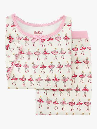 f167424ea Cath Kids Girls' Ballerina Print Pyjamas, Neutral/Pink