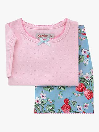 Cath Kids Girls' Wild Strawberry Print Pyjamas, Pink/Blue