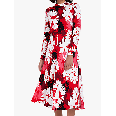 Ghost Frances Daisy Print Dress, Red/White