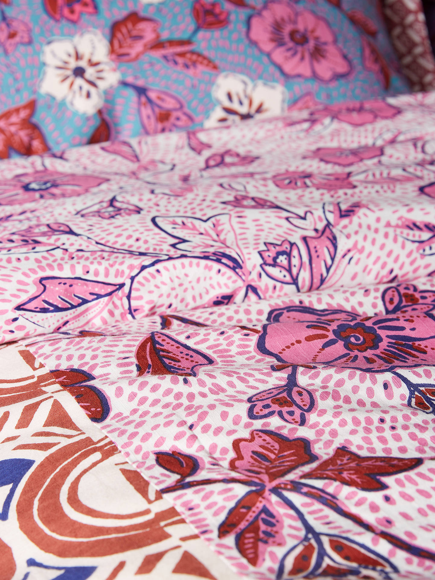 Buy Anthropologie Zola Quilted Pillow Sham, Pink Online at johnlewis.com