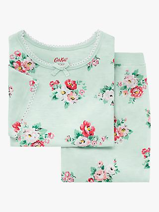 Cath Kids Girls' Islington Bunch Floral Print Pyjamas, Mint