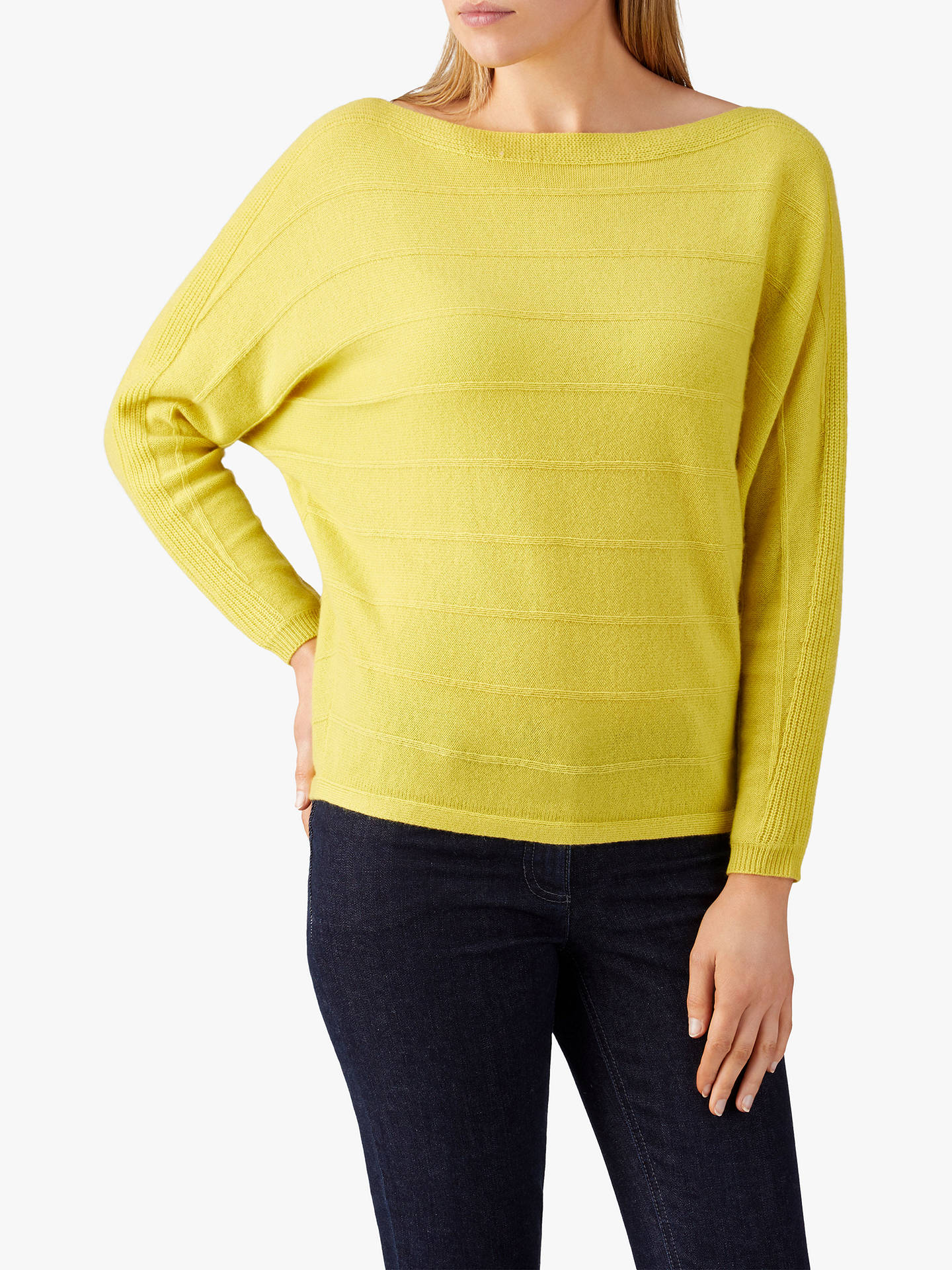 53d60fa56a Buy Pure Collection Ribbed Batwing Cashmere Sweater