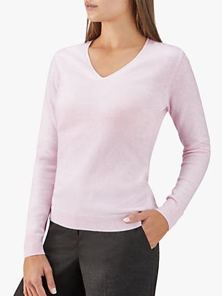 Pure Collection V-Neck Cashmere Jumper