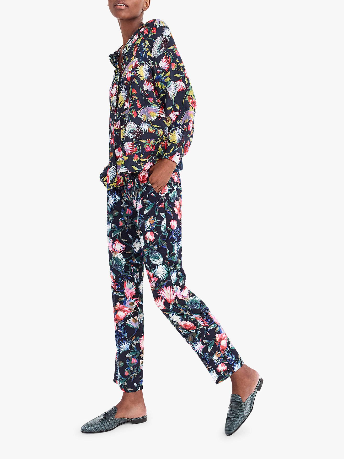 b8a6cdf5bdd74 Buy J.Crew Verity Floral Long Sleeve Silk Blouse