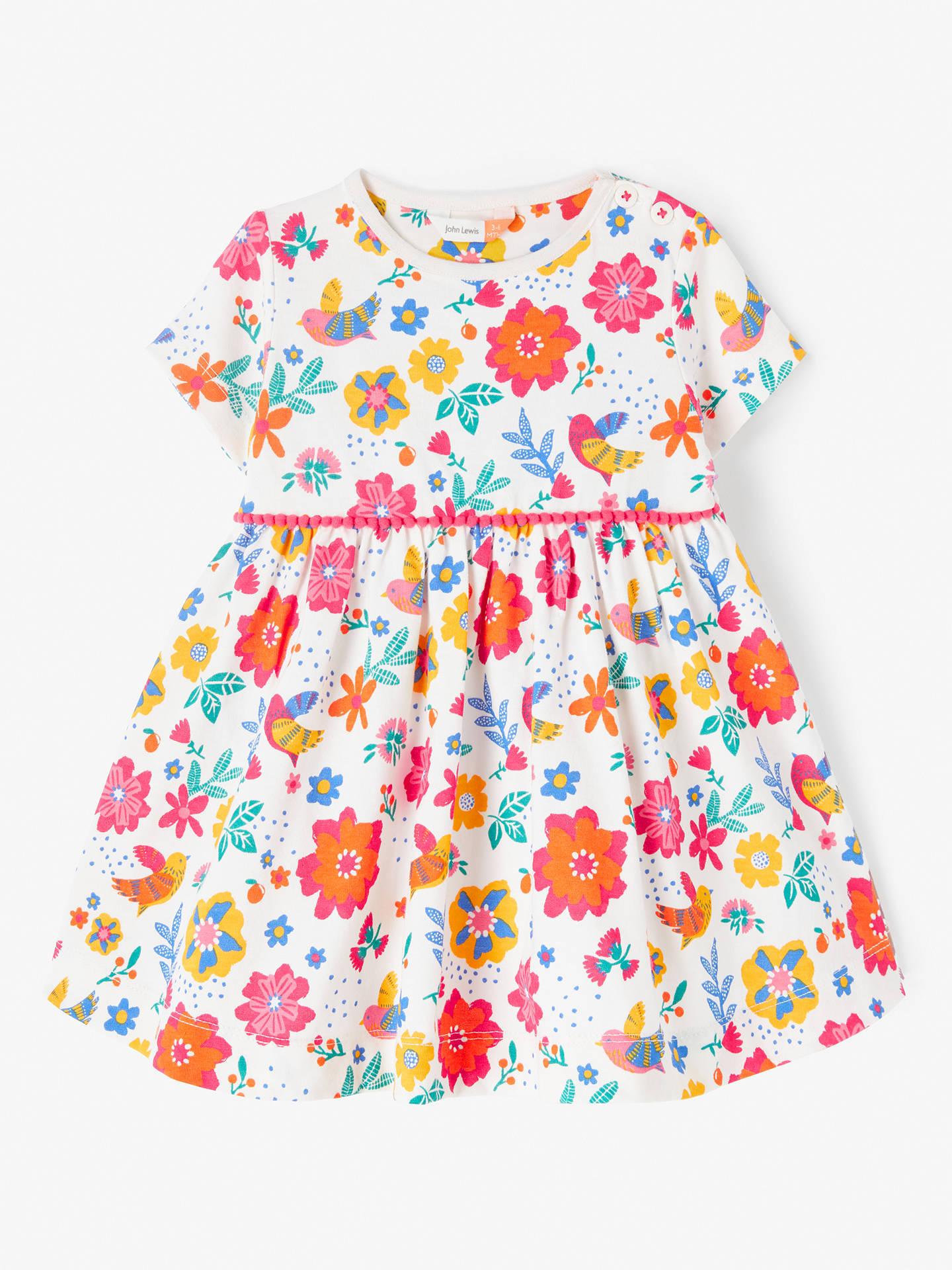 95becf6c2 Buy John Lewis & Partners Baby Floral Jersey Dress, Multi, 6-9 months ...
