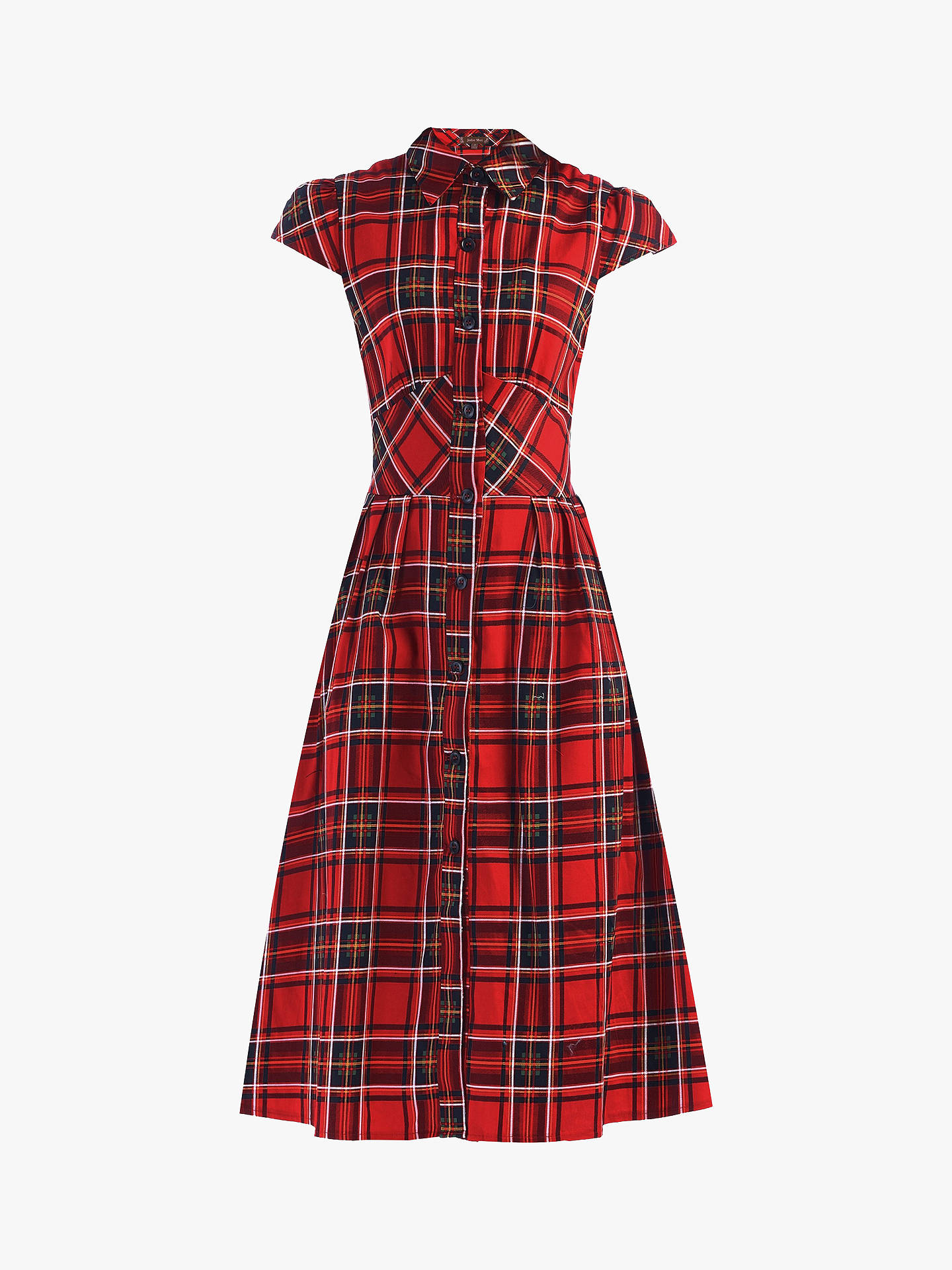 Buy Jolie Moi Check Print Shirt Dress, Red/Amber, 10 Online at johnlewis.com