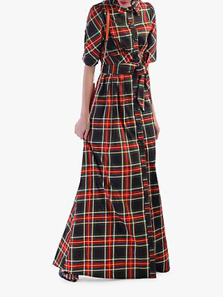 Jolie Moi Maxi Check Shirt Dress