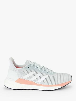 adidas Solar Glide 19 Women's Running Shoes, Blue Tint/FTWR White/Glow Pink