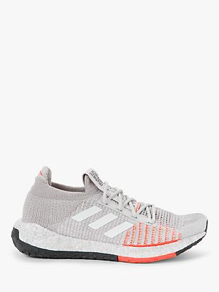 adidas PulseBOOST HD Women's Running Shoes, Grey One/FTWR White/Hi-Res Coral