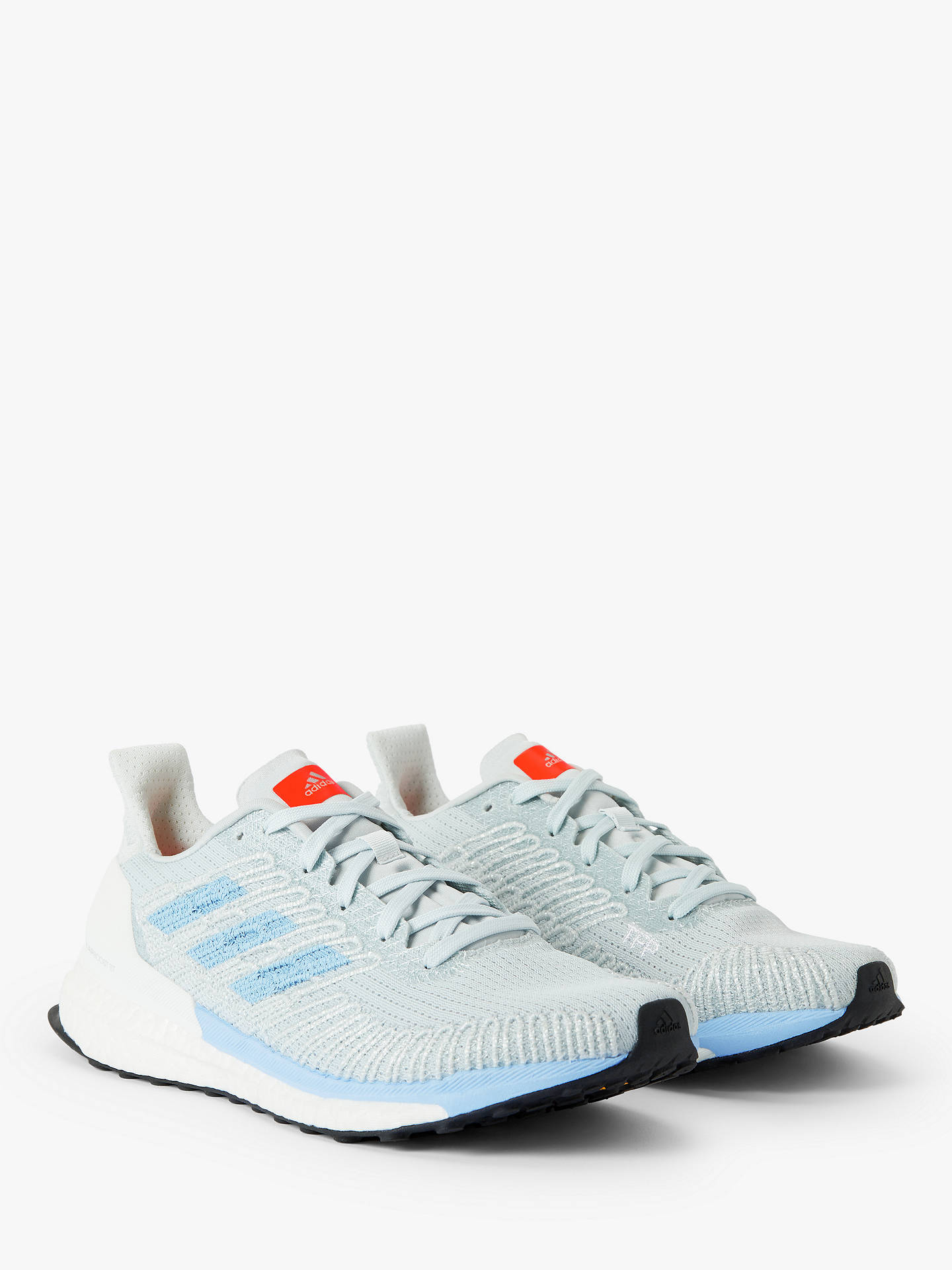 filósofo Impotencia Un fiel  adidas Solar Boost 19 ST Women's Running Shoes, Blue Tint/Glow Blue/Solar  Orange at John Lewis & Partners