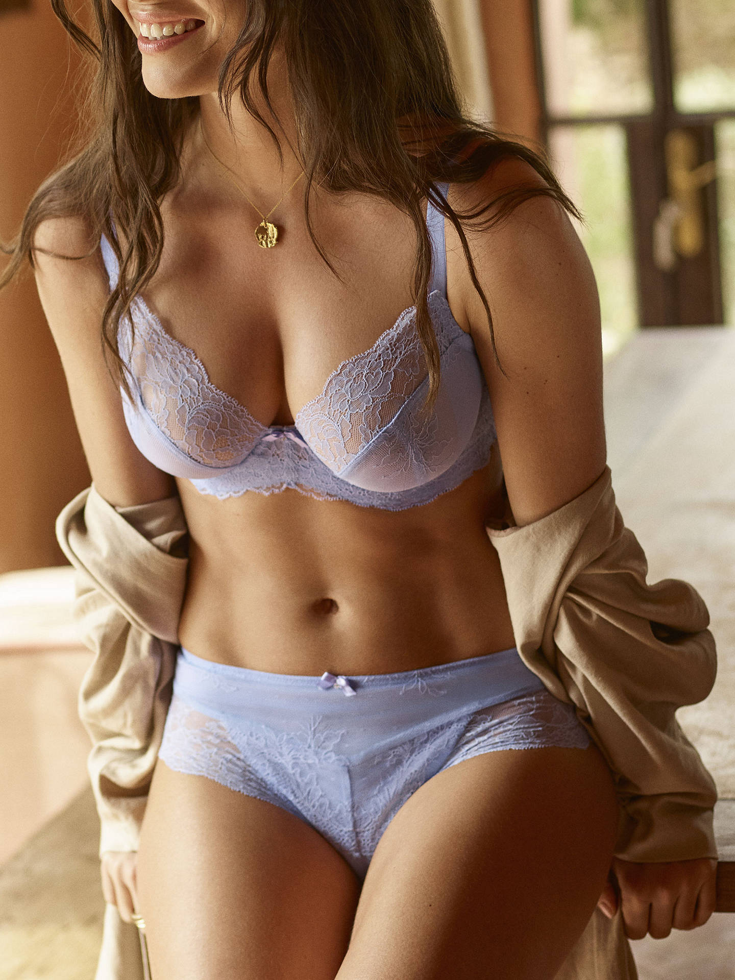 Buy Panache Ana Plunge Bra, Bluebell, 36G Online at johnlewis.com
