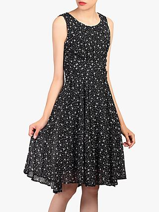 Jolie Moi Star Print Dress, Black