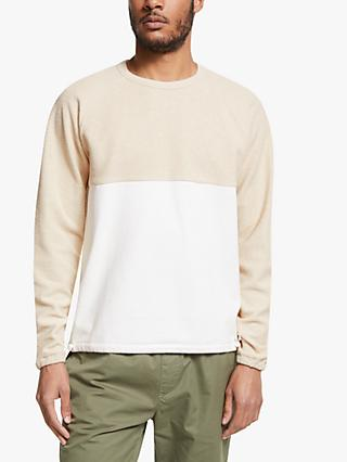 Les Basics Crew Neck Raglan Ribless Colour Block Sweatshirt