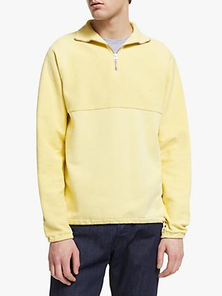Les Basics Le Zip Fleece Sweatshirt, Yellow