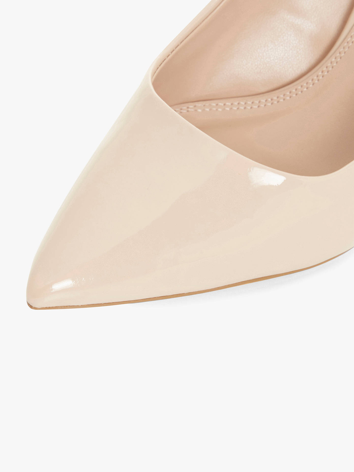 BuyDune Allina Stilleto Heel Court Shoes, Nude Patent, 5 Online at johnlewis.com