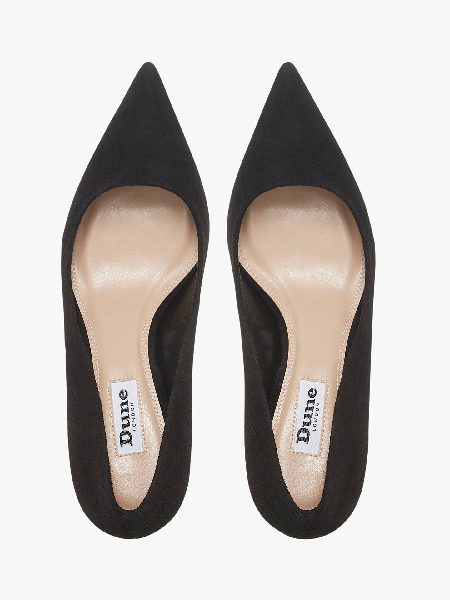 80cccea21bf Dune Astal Pointed Toe Court Shoes at John Lewis & Partners