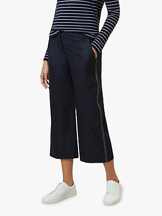 Hobbs Callie Crop Trousers, Navy
