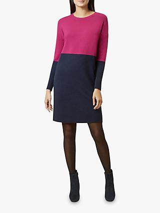 Hobbs Becca Dress, Navy Magenta