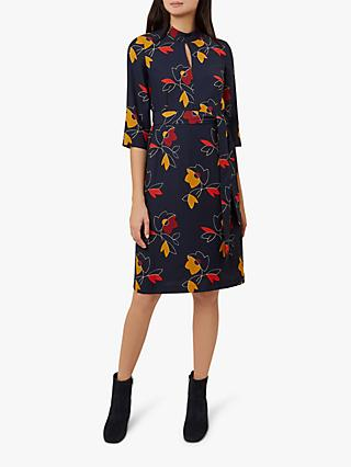 Hobbs Lyla Tie Waist Dress, Multi
