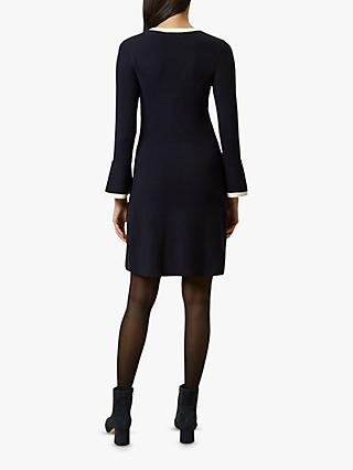 Hobbs Willow Dress, Navy/Ivory