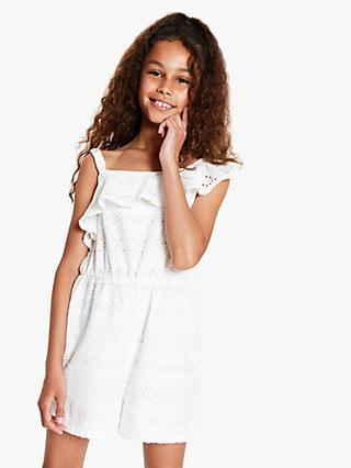 4ca0755d91 John Lewis   Partners Girls  Broiderie Playsuit
