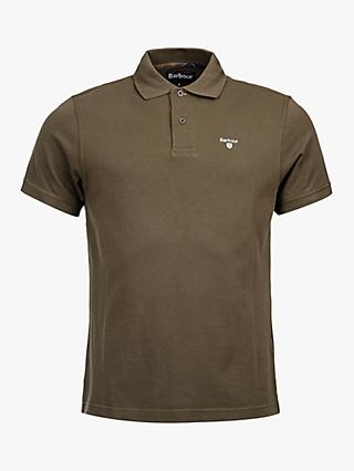 Barbour Pique Short Sleeve Polo Shirt, Green