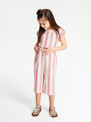 7756b064ce John Lewis   Partners Girls  Stripe Jumpsuit